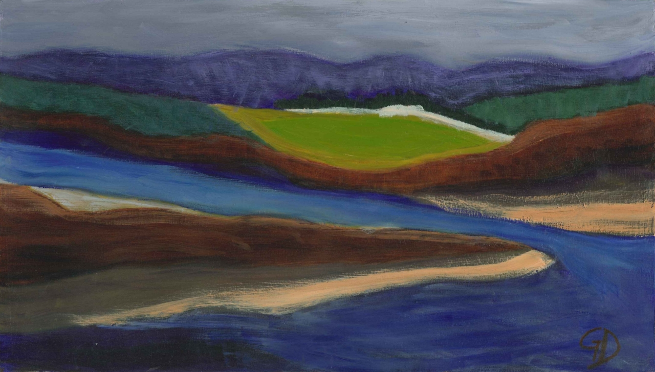 Abstract landscape.jpg - Abstract landscape Oil on board - 23 x 40 cm Scanned 22 December 2011