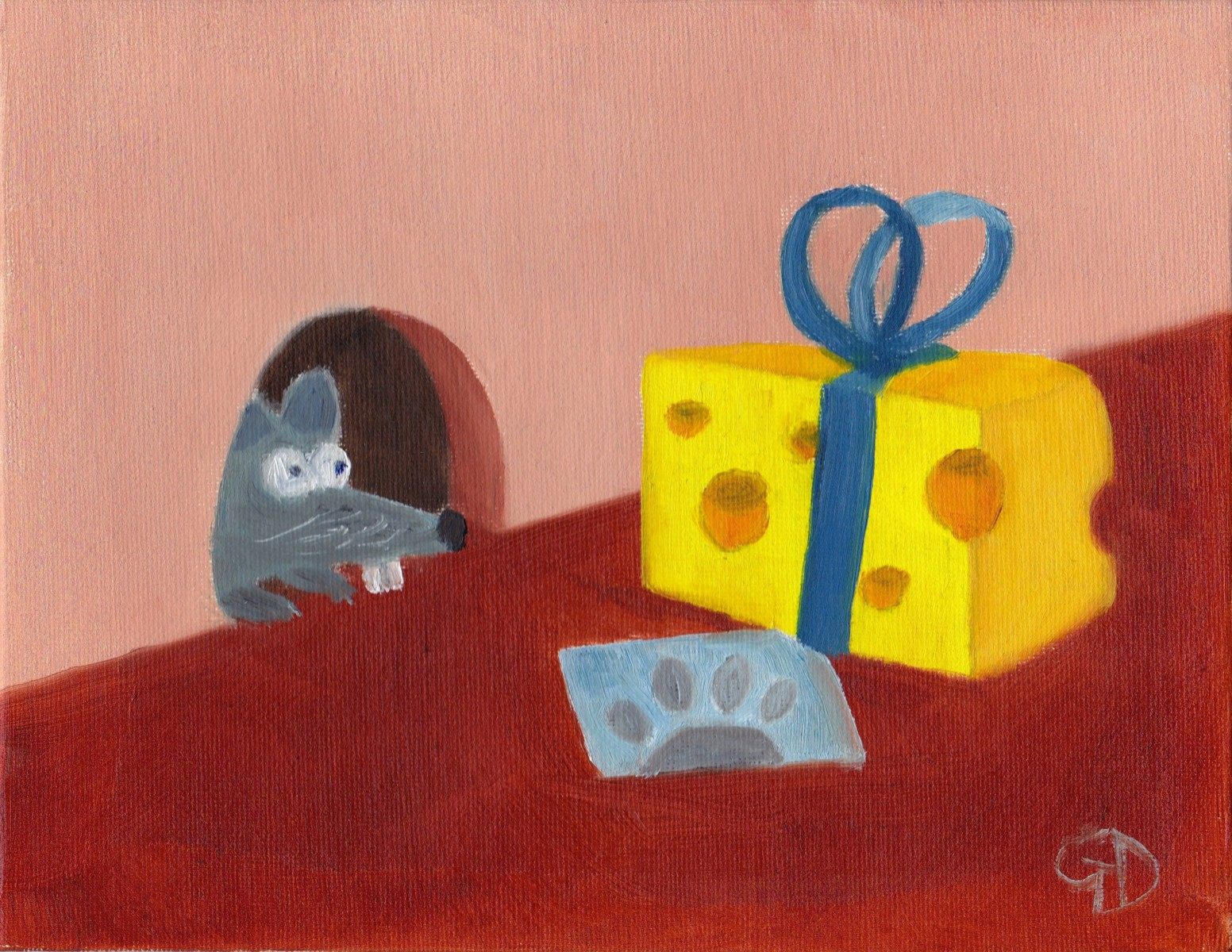 "Is this a gift.jpg - Is This a Gift ? Oil on canvas, (7 x 9"") 178 x 229 mm Scanned 16 June 2014"