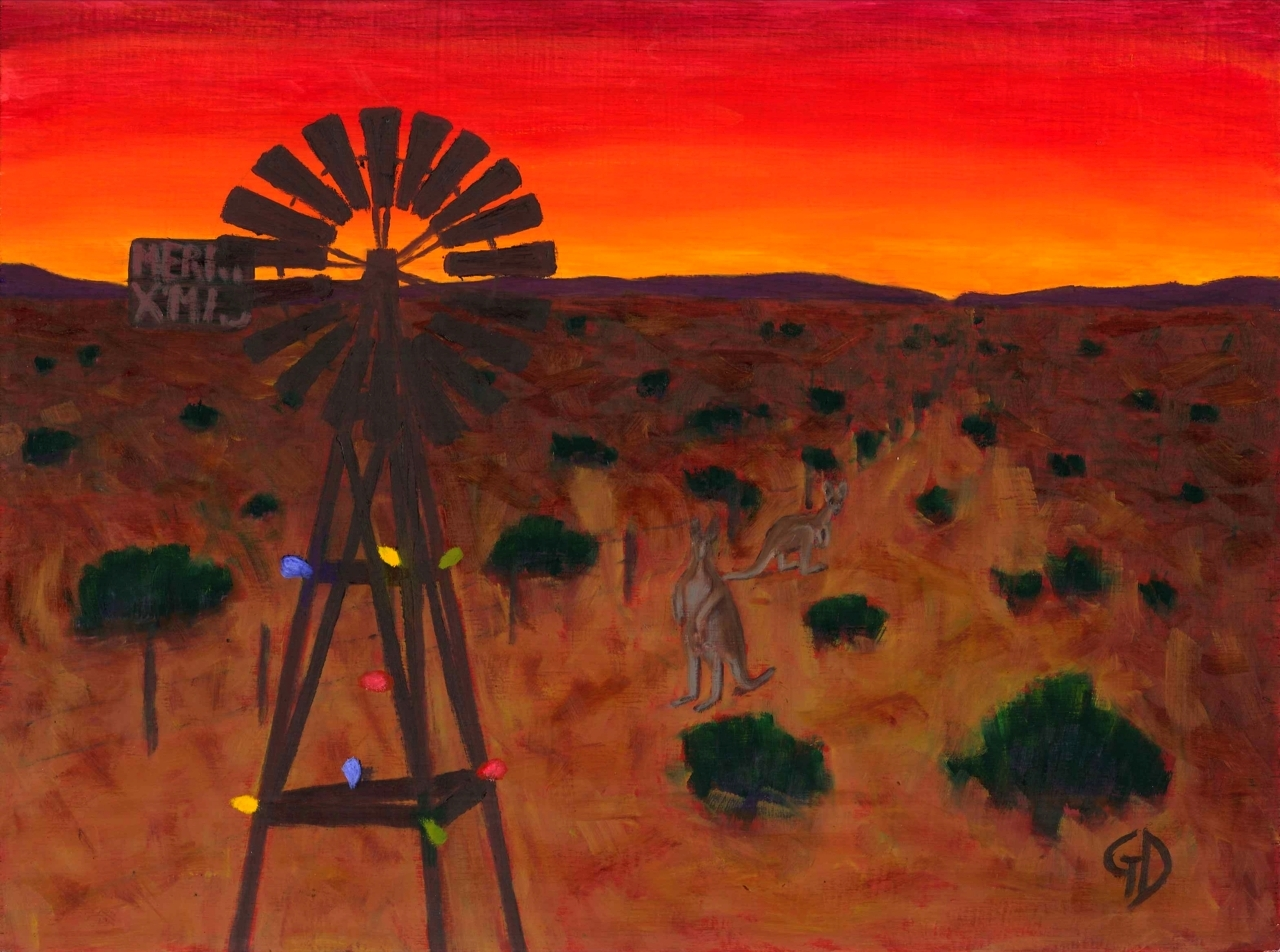 Outback Christmas.jpg - Outback Christmas Oil on board - 30 x 40 cm Scanned 22 December 2011