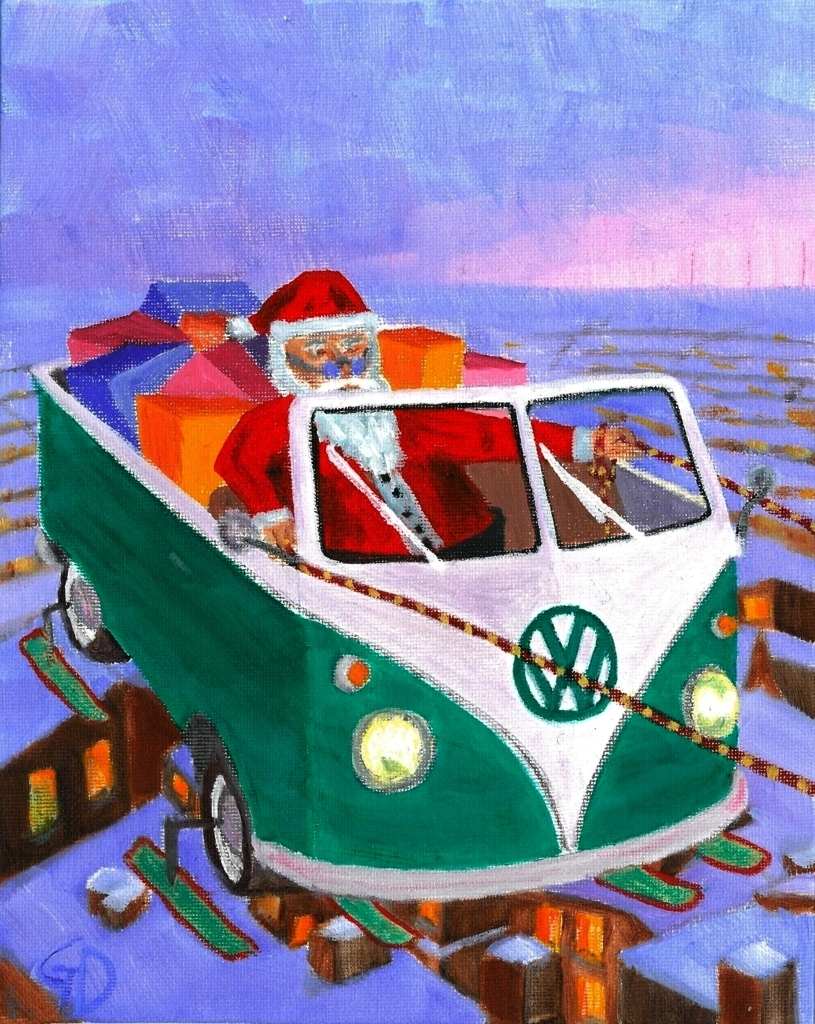 Santa's experiment.jpg - Santa's experiment Oil on canvas board - 20.3 x 25.4 cm Scanned 7th October 2013